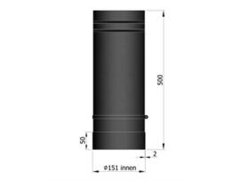 Schuifpijp teleskopisch 2 mm / Ø 150 mm