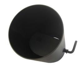 Kachelpijp 50 cm met klep zwart / 150 mm