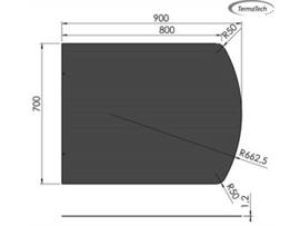 Staalplaat  flauwe ronding 1.2 mm, diverse maten