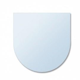 Glasplaat halfrond, 6 mm dik