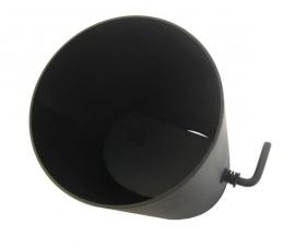 Kachelpijp 25 cm met klep zwart / 150 mm
