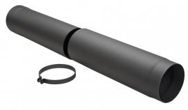 Schuifpijp zwart / Ø 125 mm