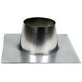 Dubbelwandig dakplaat plat RVS 0-10 graden / 125 mm
