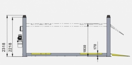 Lift Volautomatische vier koloms hefbrug 3.5 ton  type: G1751