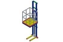 Goederenlift type 1 kolom 1000 x 1400 mm laadgewicht: 500 kg