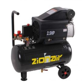 Compressor 24 liter tank - 2KW, 230V, 8bar