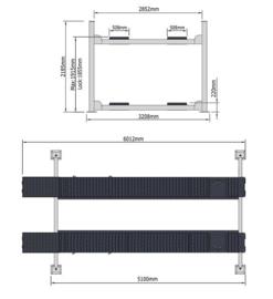 4 kolommen hefbrug type Peak 412A met verlichting - middenkrik en uitlijnfunctie