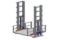 Goederenlift type dubbele kolom 1200 x 2000 mm laadgewicht: 500 kg