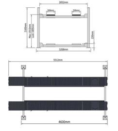 4 kolommen hefbrug type Peak 409A met verlichting - middenkrik en uitlijnfunctie