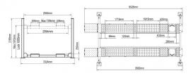 4 kolommen hefbrug type PEAK 414A met verlichting middenkrik en uitlijnfunctie