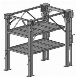 verdiepings lift DFPS3-2  hefhoogte 3900mm
