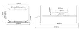 4 kolommen hefbrug type Peak 410AWX met WIELVRIJ heffer verlichting - en uitlijnfunctie