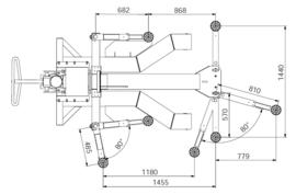 1 Kolom hefbrug type AAE-DFP607  2500KG