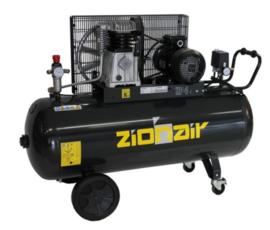 Compressor 200 liter tank - 3KW, 400V, 10bar