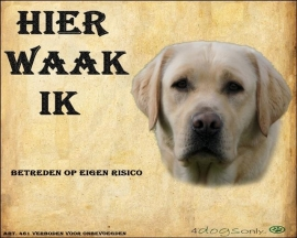 Waakbord Labrador Retriever Blond OP=OP