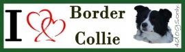 I LOVE Border Collie Zwart /  Wit UITVERKOCHT