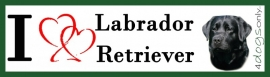 I LOVE Labrador Zwart UITVERKOCHT