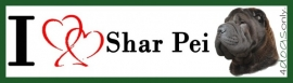 I Love Shar-Pei Zwart OP=OP