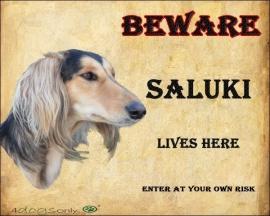 waakbord Saluki. Per set van 2 waakborden