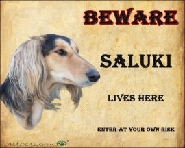 waakbord Saluki. Per set van 2 waakborden UITVERKOCHT