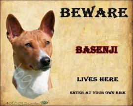 Waakbord Basenji.  OP=OP