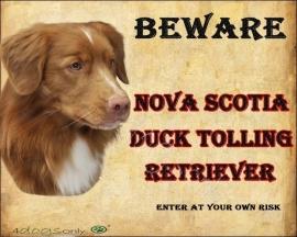 Waakbord Nova Scotia Duck Tolling Retriever 2 / Toller Per set van 2 waakborden