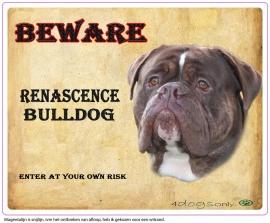 Waakbord Renascence Bulldog  (Engels)OP=OP