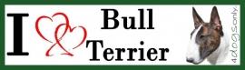 I LOVE Bull Terrier Gestroomd UITVERKOCHT
