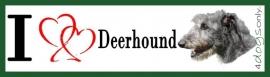 I LOVE Deerhound / Ierse Wolfshond OP=OP