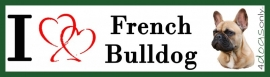I LOVE Franse Bulldog Fawn UITVERKOCHT