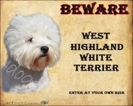 Waakbord West Highland White Terrier OP=OP