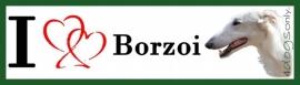 I LOVE Barzoi / Borzoi Wit NIEUW OP=OP