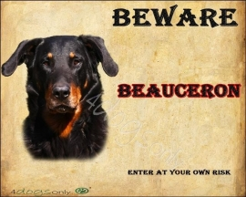 Waakbord Beauceron (Engels). UITVERKOCHT