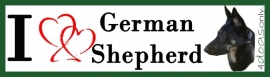 I LOVE Duitse Herder / German Shepherd OP=OP