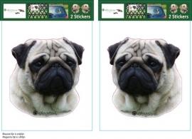 Pug / Mops hond setje 2 stuks OP=OP