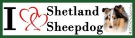 I LOVE Shetland Sheepdog / Shelti Blue Merle OP=OP