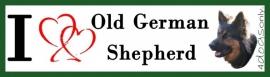 I LOVE Old German Shepherd / Duitse herder langhaar OP=OP