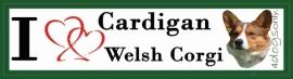 I LOVE Cardigan Welsh Corgi  NIEUW OP=OP