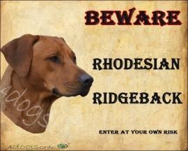 Waakbord Rhodasian Ridgeback 2 Per set van 2 WAAKBORDEN UITVERKOCHT n