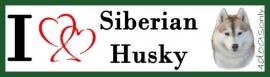 I LOVE Siberian Husky Rood OP=OP