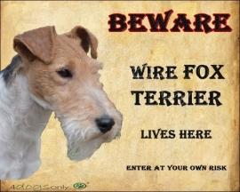 Waakbord Wire Fox Terrier OP=OP