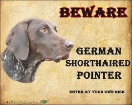 Waakbord German Short Haired Pointer / Duitse Staande hond Korthaar. (UITVERKOCHT)