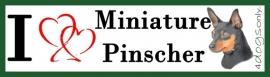 I LOVE Miniature Pinscher Black & Tan / Dwerg Pinscher Zwart & Bruin UITVERKOCHT