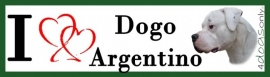 I LOVE  Dogo Argentino OP=OP