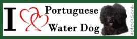 I LOVE Portuguese Water Dog Curly Zwart OP=OP
