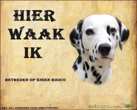 Waakbord Dalmatier zwart per set van 2 waakborden UITVERKOCHT