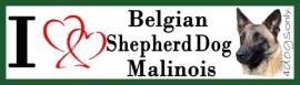 I LOVE Belgian Shepherd Malinois (lichte kleur) UITVERKOCHT