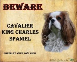 Waakbord Cavalier King Charles Spaniel (Engels). Per set van 2 waakborden UITVERKOCHT