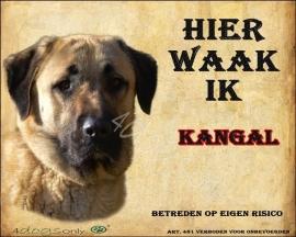 Waakbord Kangal / Turkse Herder (Nederlands). Per set van 2 waakborden UITVERKOCHT