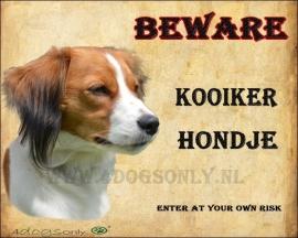 Waakbord Kooiker Hondje UITVERKOCHT